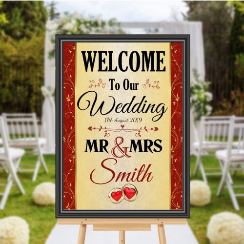 Personalised Welcome to our Wedding Sign Poster Banner - Print N176